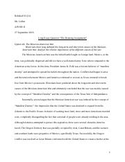 leq outline standard ap us history essay format introductory 5 pages rebekah yi 21 leq mex usa war