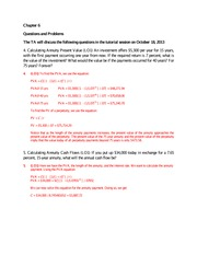 tutorial question on discounted cash flow valuation 2