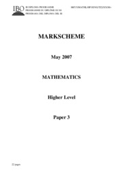 Mathematics HL - May 2007 TZ2 - P3 $