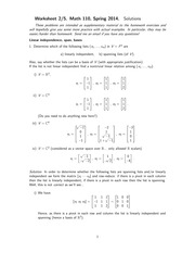 MATH 110 Spring 2014 Worksheet 3 Solutions