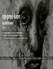 Oppresion Project - Final