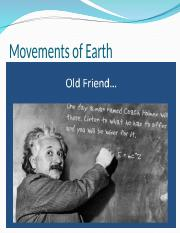 Earth Movements Bary Pre Nut.ppt