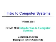 LectureII-Introduction-to-Computer-Systems