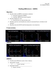 Topic 12 - Finding differences - ANOVA