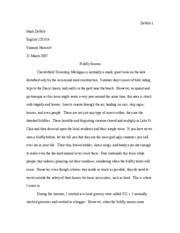 personal narrative essay dewitt mark dewitt english  6 pages process analysis essay