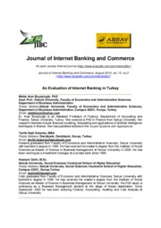 An Evaluation of Internet Banking in Turkey
