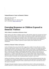 Emerging Responses to Children Exposed to Domestic Violence