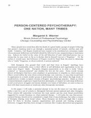 10 5 Warner, Person-Centered Psychotherapy- One Nation Many Tribes