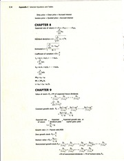 Formulas - Chapters 8 and 9