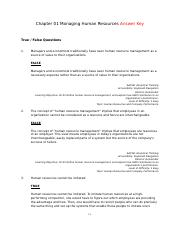 Chapter 01 Managing Human Resources Answer Key.rtf