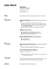 Pasco Hernando College Resume