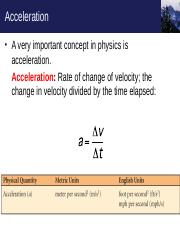 Chapter 1_3 acceleration