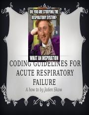 Coding guidelines for acute respiratory failure
