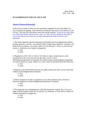 plagiarism quiz james britt jr enc 1101 006 plagiarism quiz for enc 1101 1102 answers password. Black Bedroom Furniture Sets. Home Design Ideas