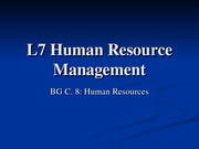 L7 Human Resource Management0