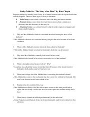 Study guide sotry of an hour. Kayli Bull pdf