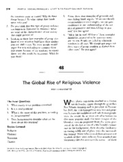 Jergensmeyer - The Global Rise of Religious Violence - Charon