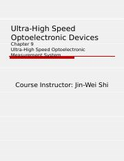 Ultra-High Speed Optoelectronic Devices Chapter 9