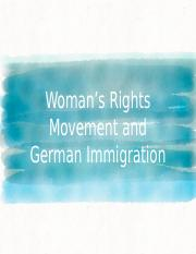 Brianna, Samay Women's Rights Movement and German Immigration