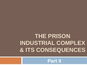 The Prison Industrial Complex & Its Consequences PartII