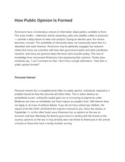 How Public Opinion Is Formed