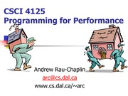 CSCI 4125 HPC Course Overview