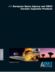 AVX European Space Agency and CECC Ceramic Capacitor Products