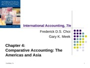 Chapter 04 - Comparative Accounting - America and Asia (1)