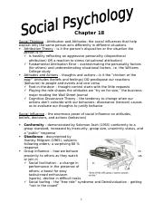 Summary Notes Social Psychology