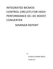 INTEGRATED BICMOS CONTROL CIRCUITS FOR HIGH