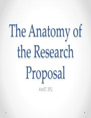 AMST 392_Anatomy of a Research Proposal