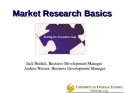 Technology commercialization - market research