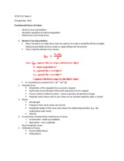 SCNC1112 Notes 2
