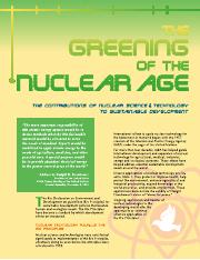 The Greening of the Nuclear Age