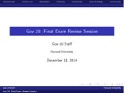 GOV20 Fall 2014 Final Exam Review Slides