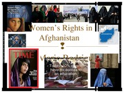 Presentation on Women's Rights in Afghanistan