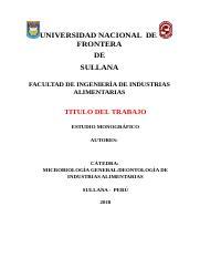 Estructura De La Monografia Cientifica Docx Universidad