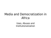 Lec 12 - Media and Democratization in Africa
