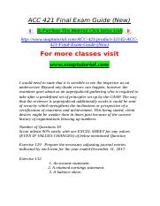 ACC 421 Final Exam Guide (New).doc
