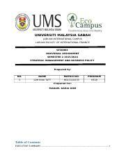 strategic management assignment universiti sabah most popular documents for he 19