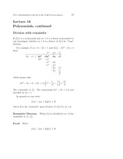 Math and Foundation Studies Lectures 16-17