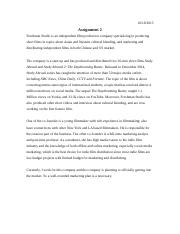 mba marketing management assignment pdf