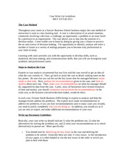 Case Write Up Guidelines 12-03-13