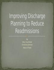 Improving Discharge Planning to Reduce Readmissions.pptx