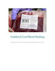 Umbilical Cord Blood Banking Seminar 1 alt assignment.docx