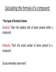 (1) Calculating the formula of a compound.pptx