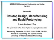 03 Concurrent Engineering and Design Lecture #3