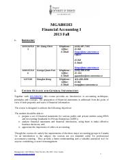 MGAB01 Course Outline - 2013F