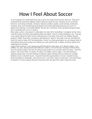 How I Feel About Soccer.docx