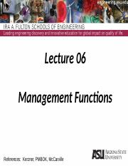 Lecture 06dm Management Functions(1)